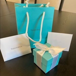 TIFFANY T TRUE NARROW RING 18K NIP LNC SZ 7.5 $990